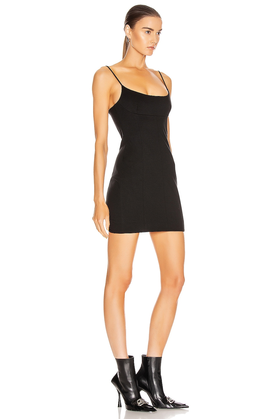 Image 2 of Alexander Wang Fitted Tailored Cami Dress in Black