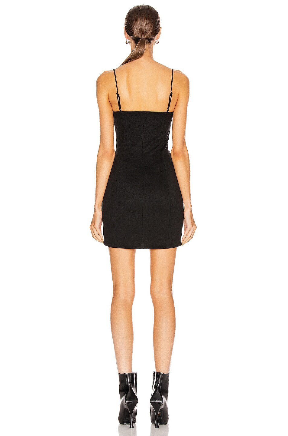 Image 3 of Alexander Wang Fitted Tailored Cami Dress in Black