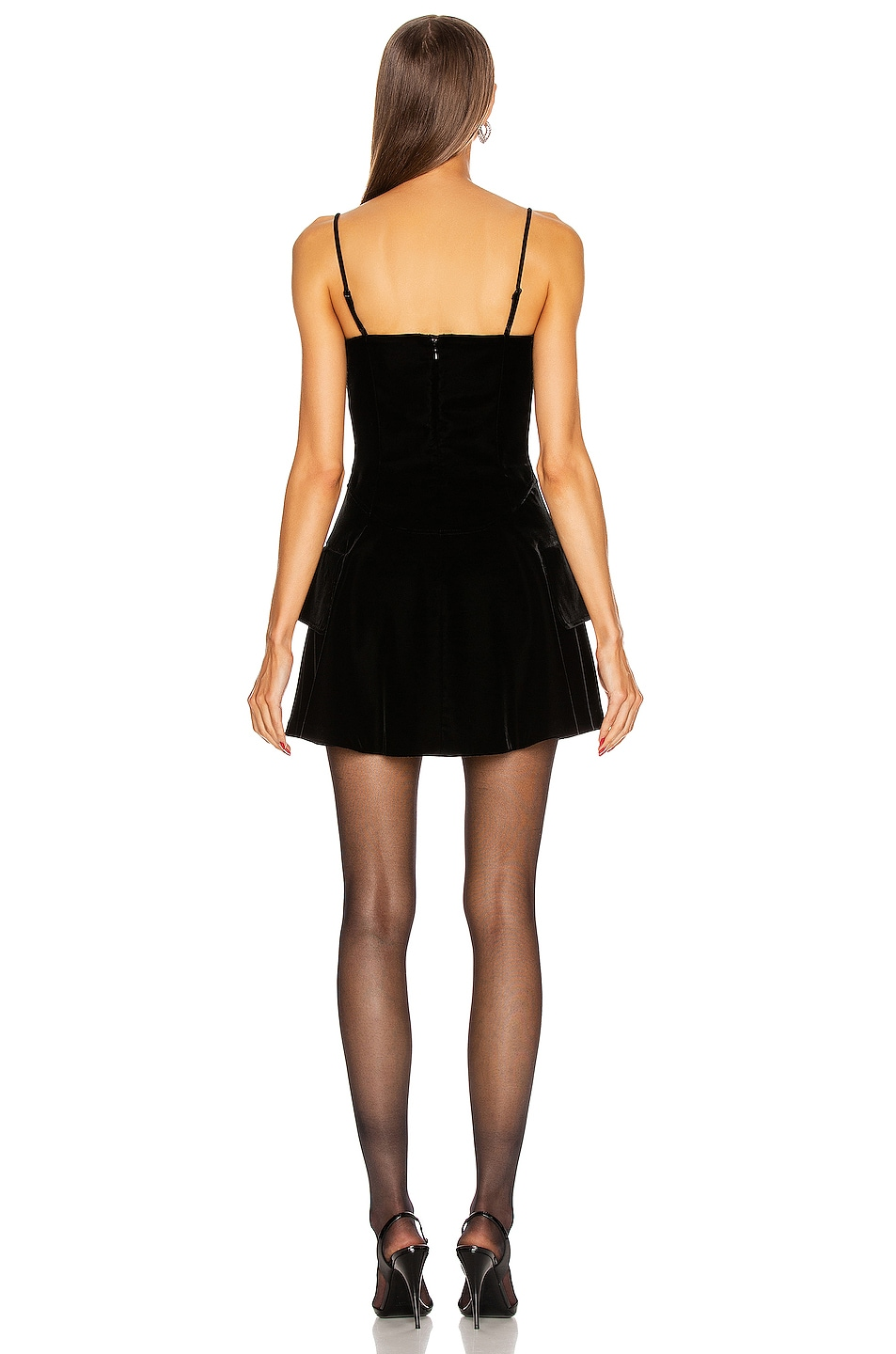 Image 3 of Alexander Wang Velvet Fit and Flare Dress in Black