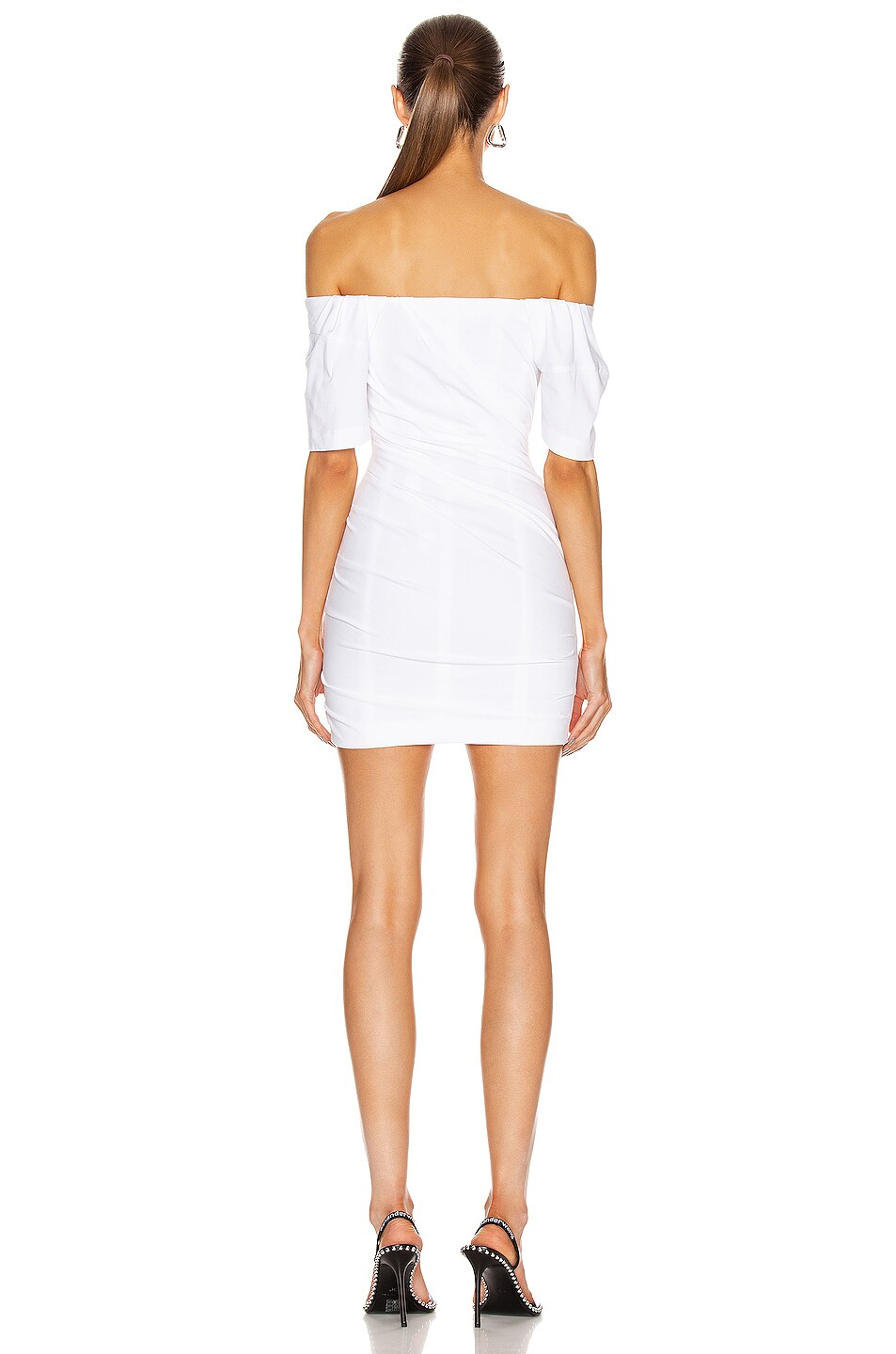 Image 3 of Alexander Wang Twisted T-Shirt Bustier Dress in White