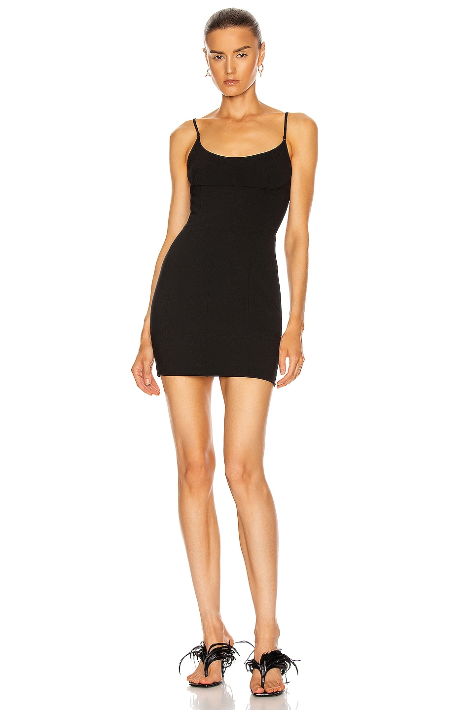 Image 1 of Alexander Wang Tailored Cami Dress in Black