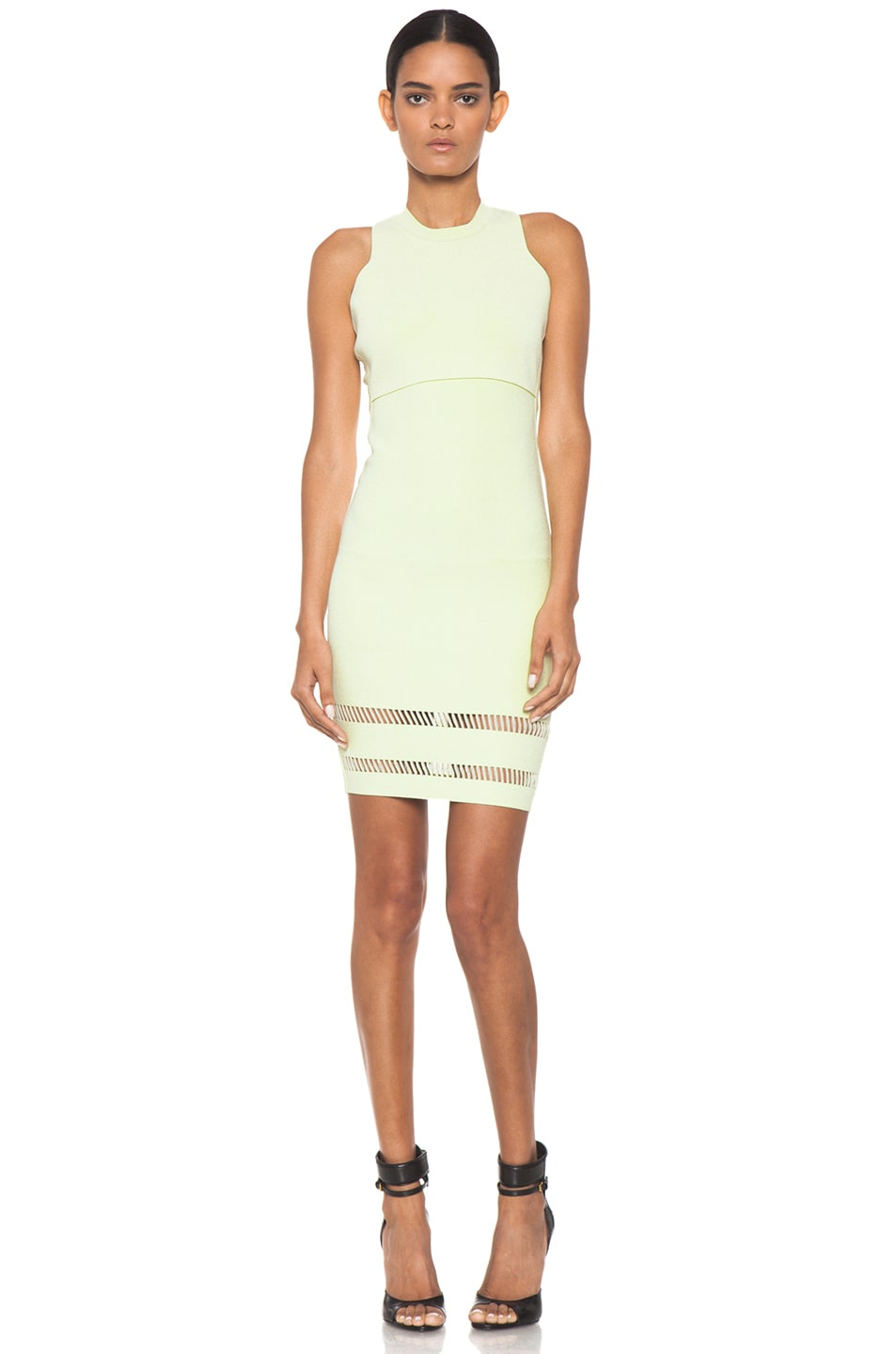 Image 1 of Alexander Wang Suspension Fitted Tank Dress in Highlighter