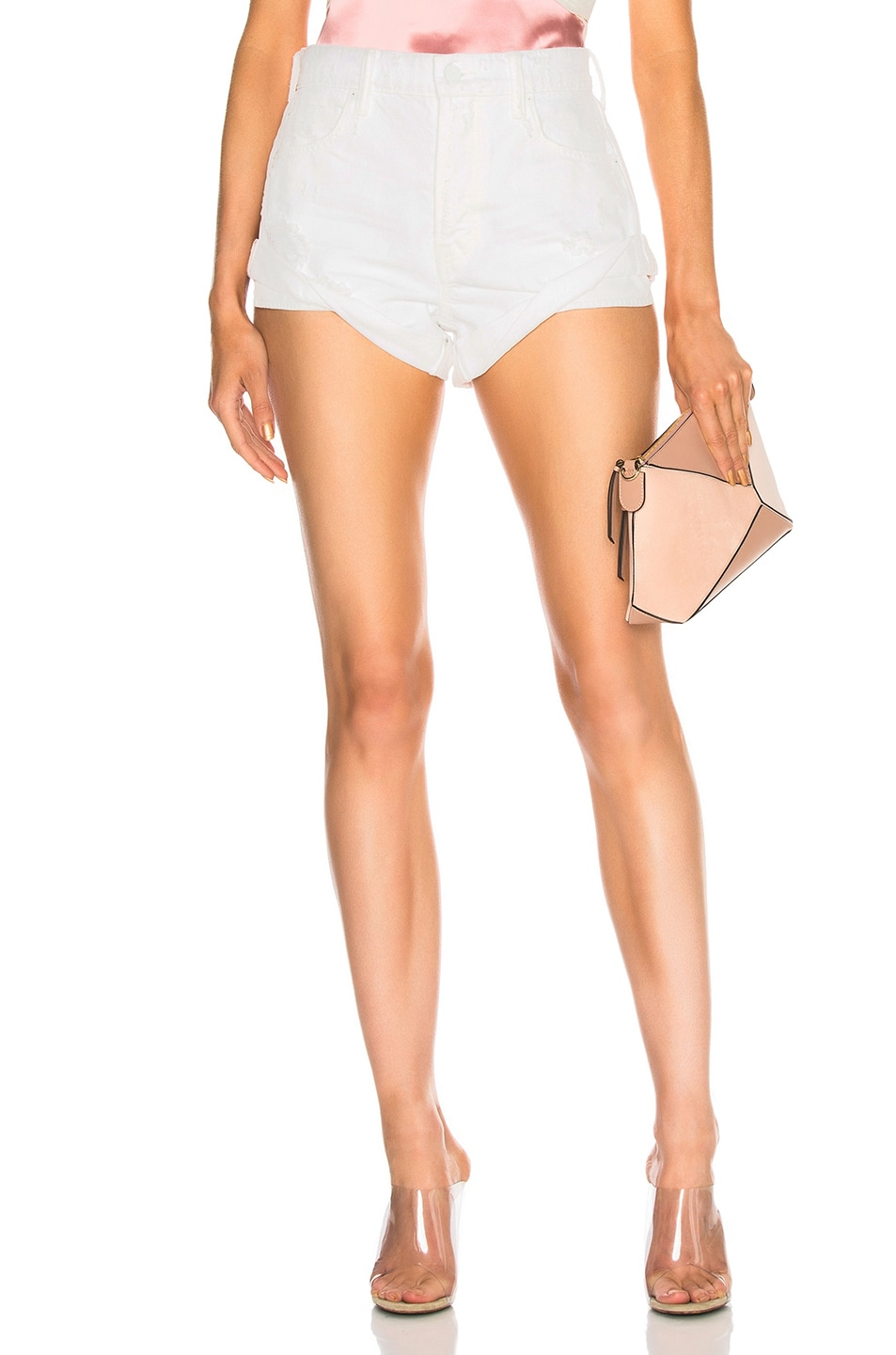 Image 1 of Alexander Wang Hike Rolled Short in White