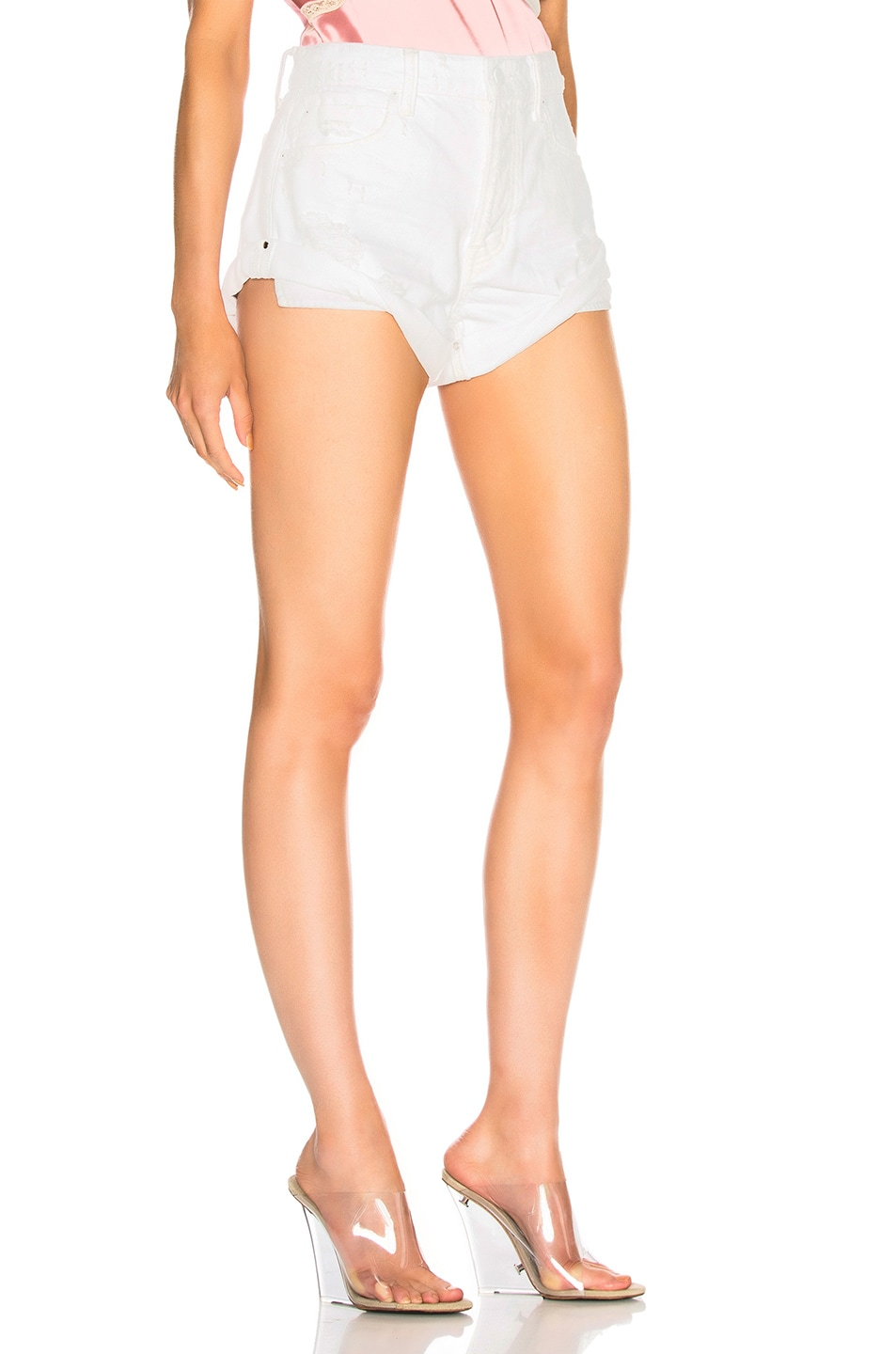Image 2 of Alexander Wang Hike Rolled Short in White
