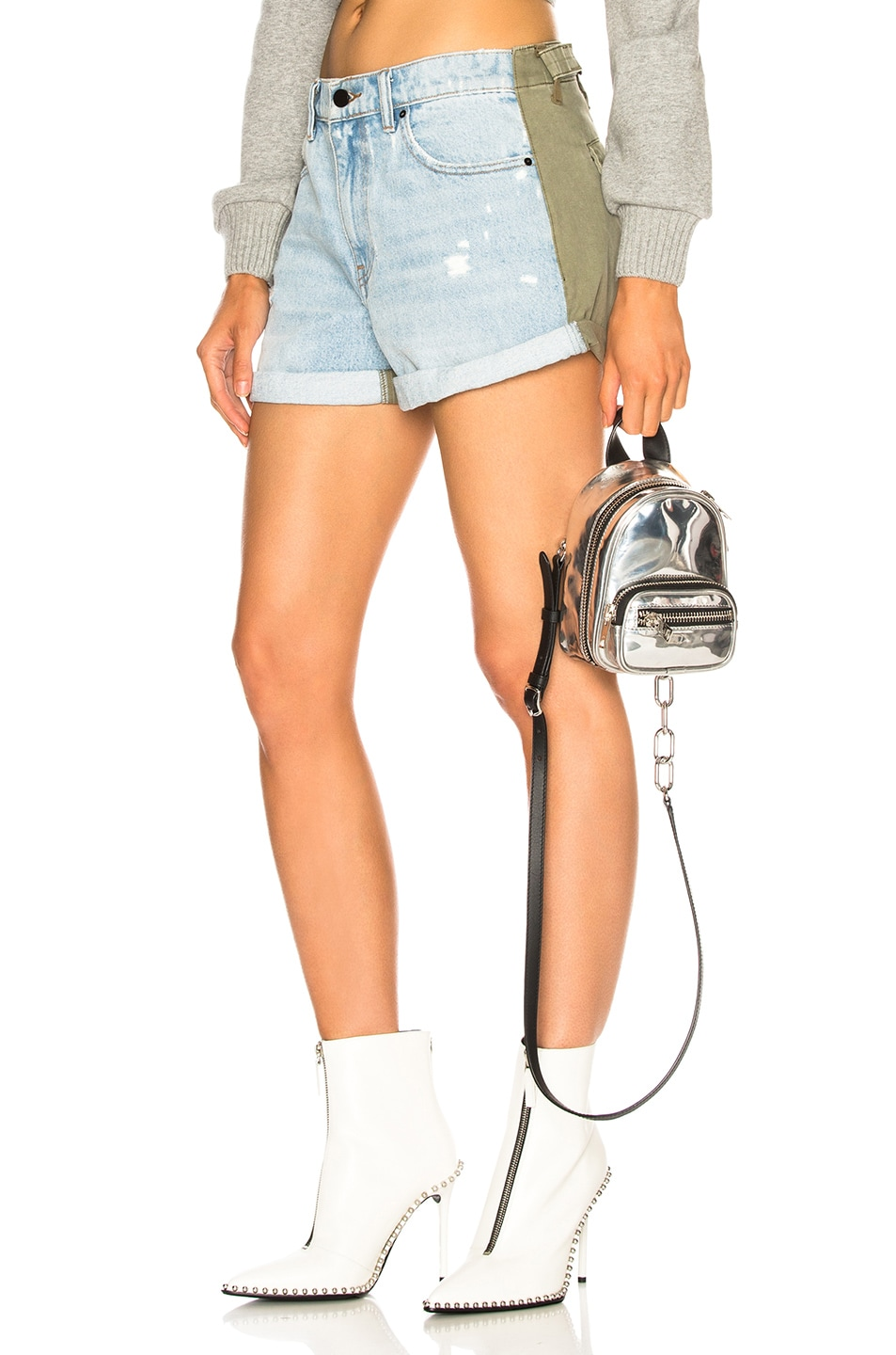 Image 1 of Alexander Wang Hike Mix Short in Bleach & Army Green
