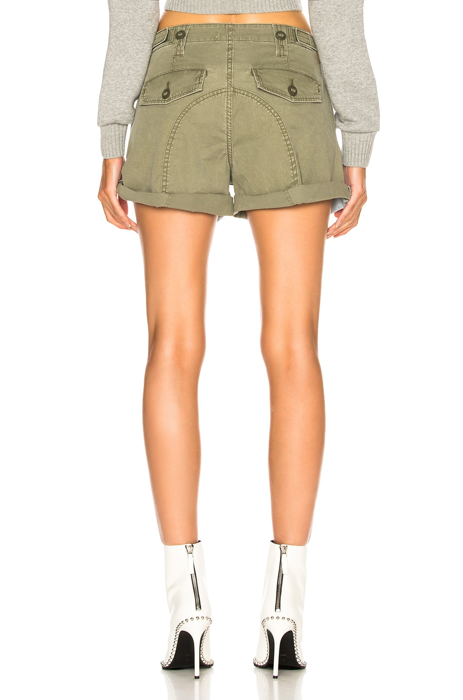 Image 4 of Alexander Wang Hike Mix Short in Bleach & Army Green