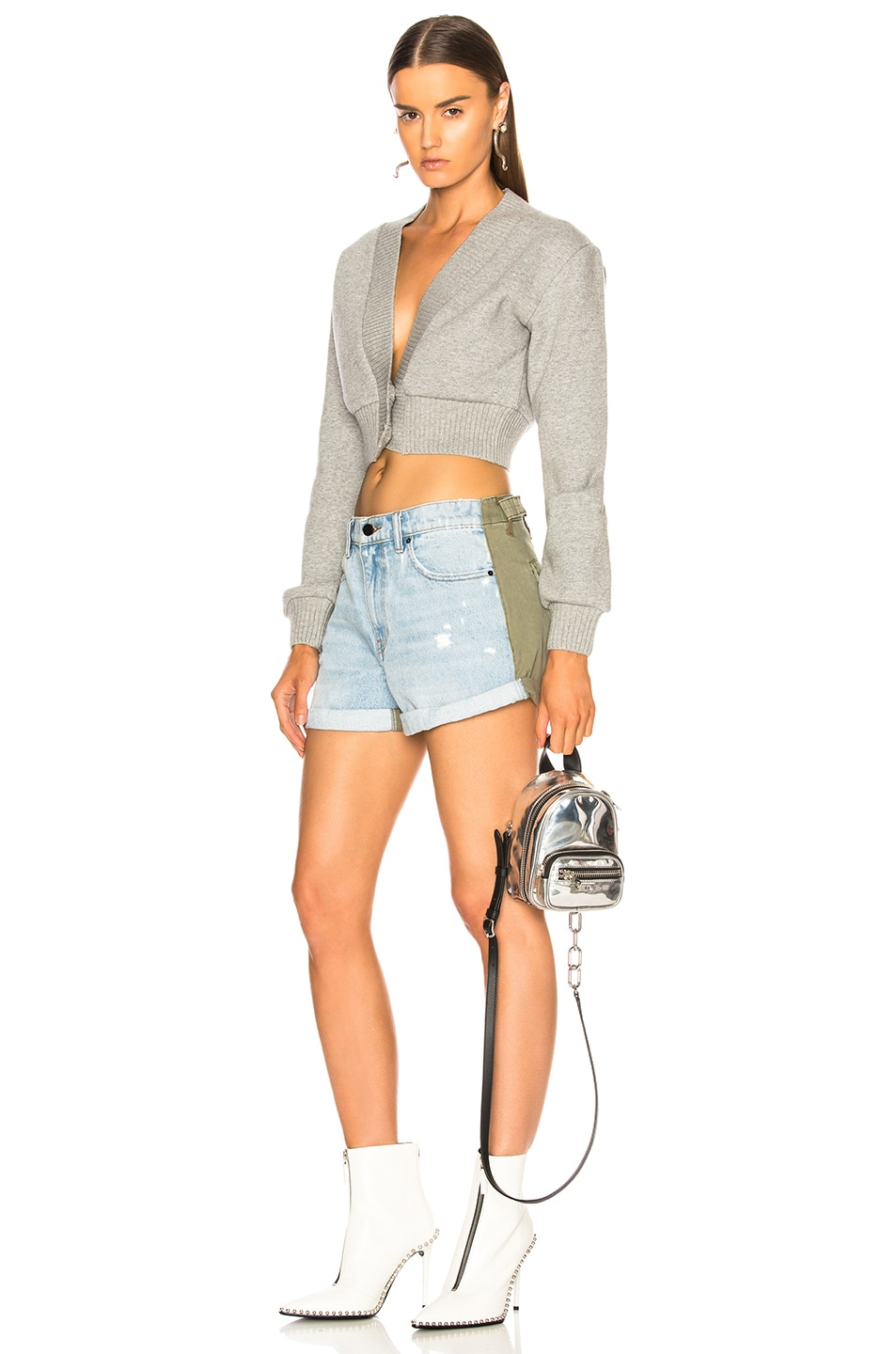 Image 5 of Alexander Wang Hike Mix Short in Bleach & Army Green