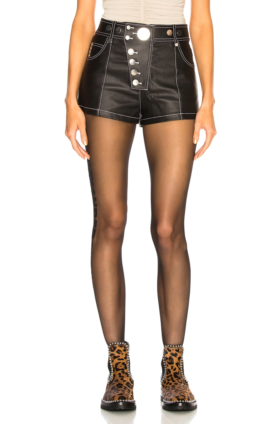 Image 1 of Alexander Wang High Waisted Short in Black