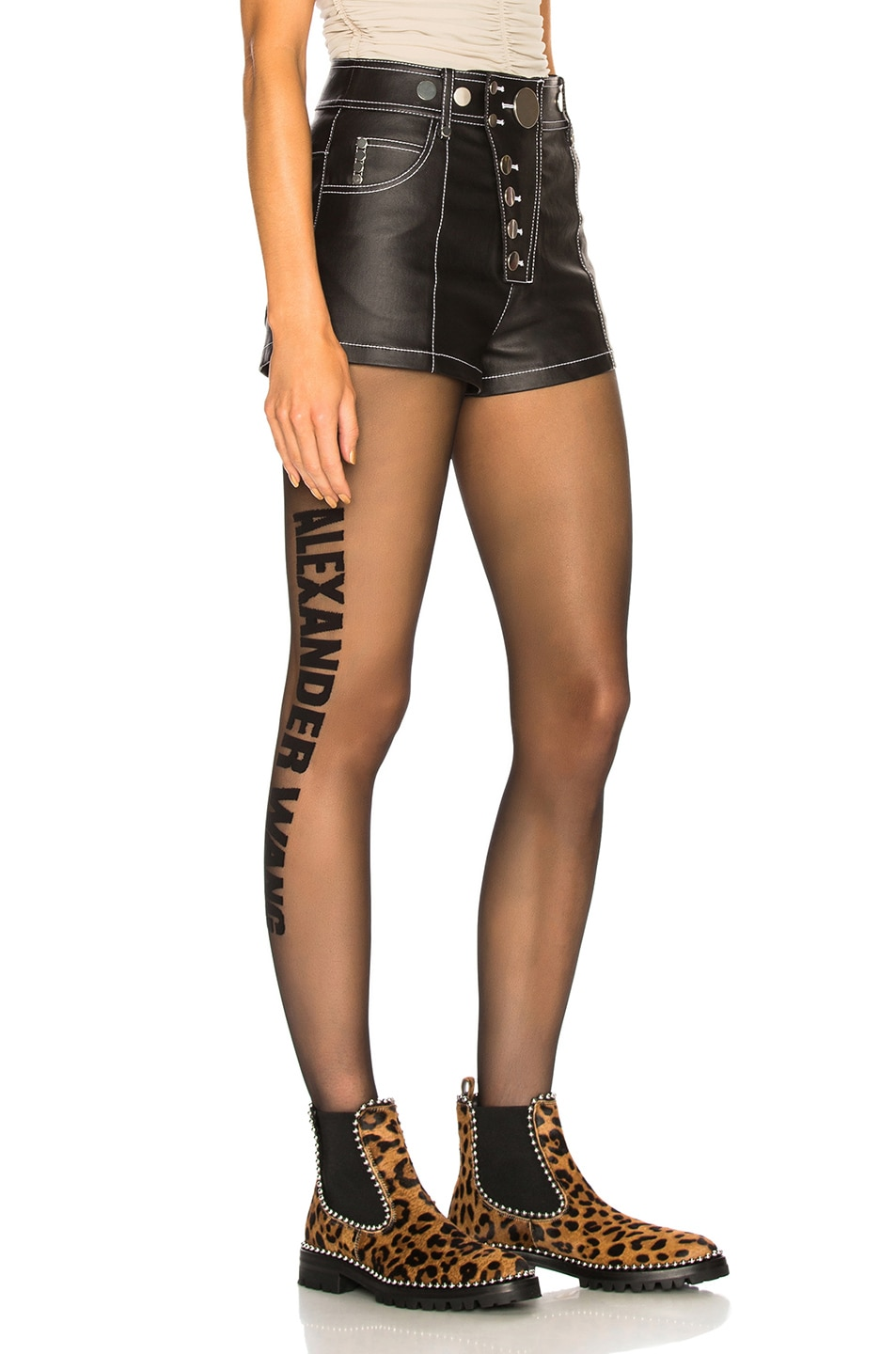 Image 2 of Alexander Wang High Waisted Short in Black