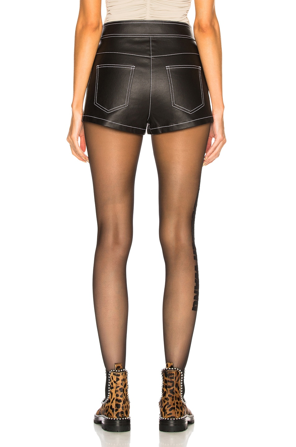 Image 3 of Alexander Wang High Waisted Short in Black