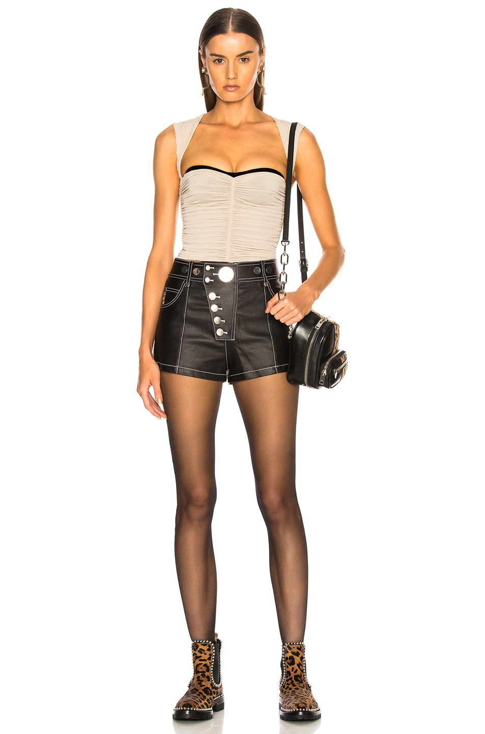 Image 4 of Alexander Wang High Waisted Short in Black