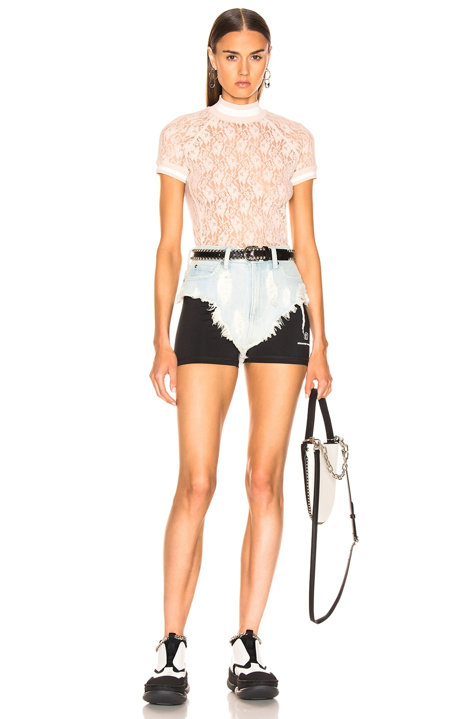 Image 5 of Alexander Wang Lycra Combo Short in Bleach