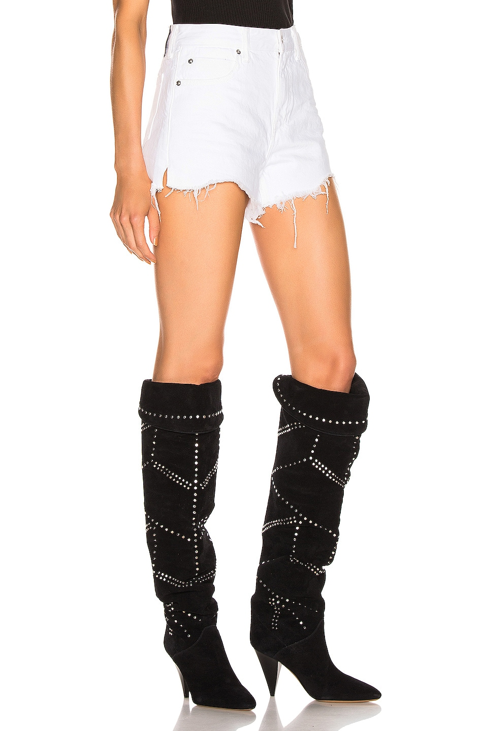 Image 3 of Alexander Wang Bite Zip Short in Chalk White