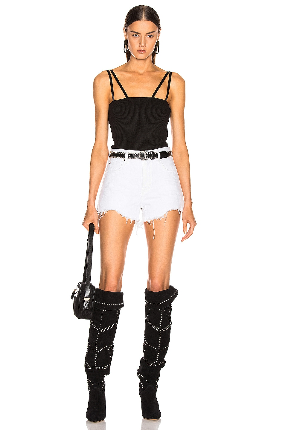 Image 5 of Alexander Wang Bite Zip Short in Chalk White