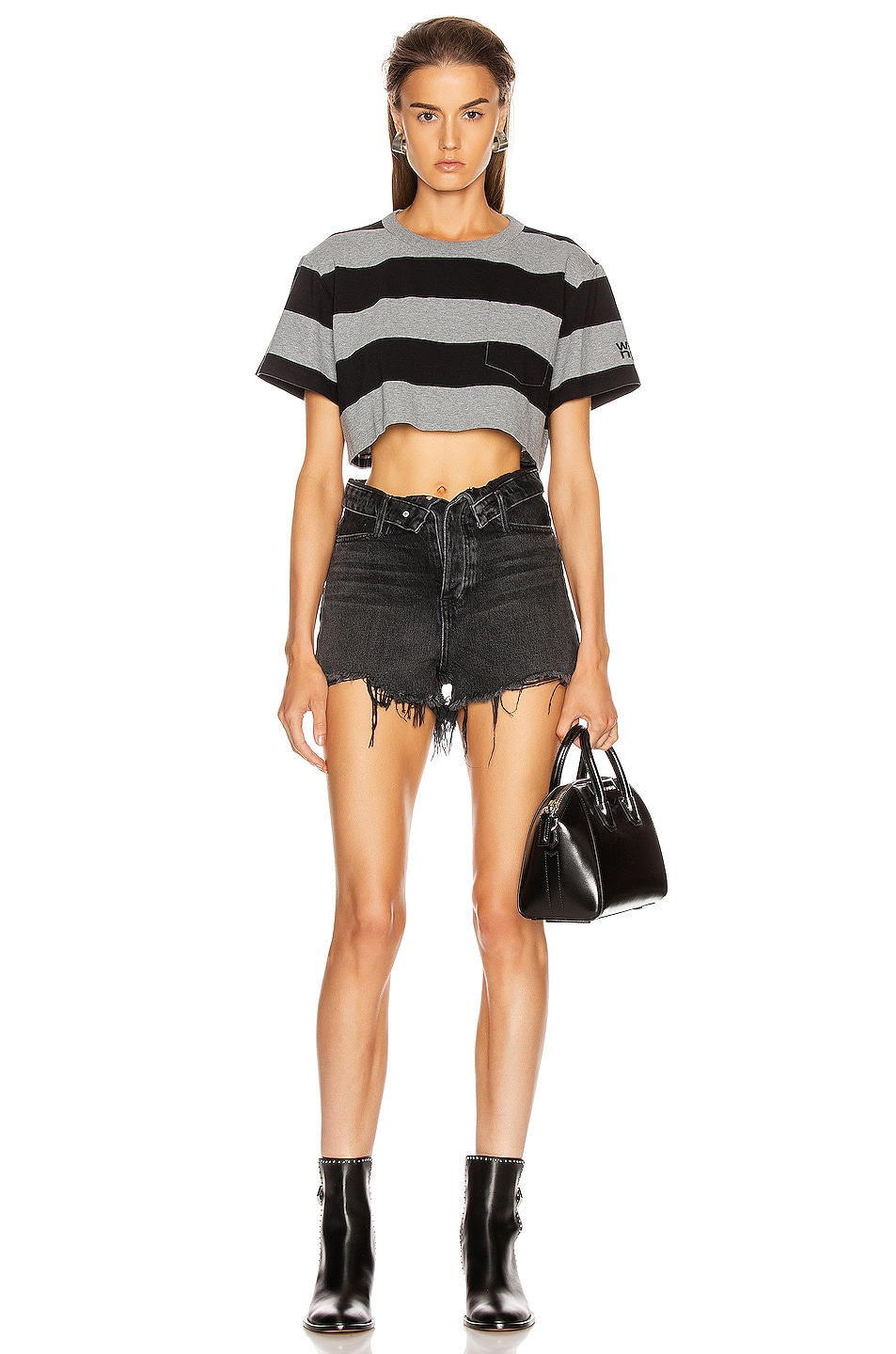 Image 5 of Alexander Wang Bite Flip Short in Grey Aged