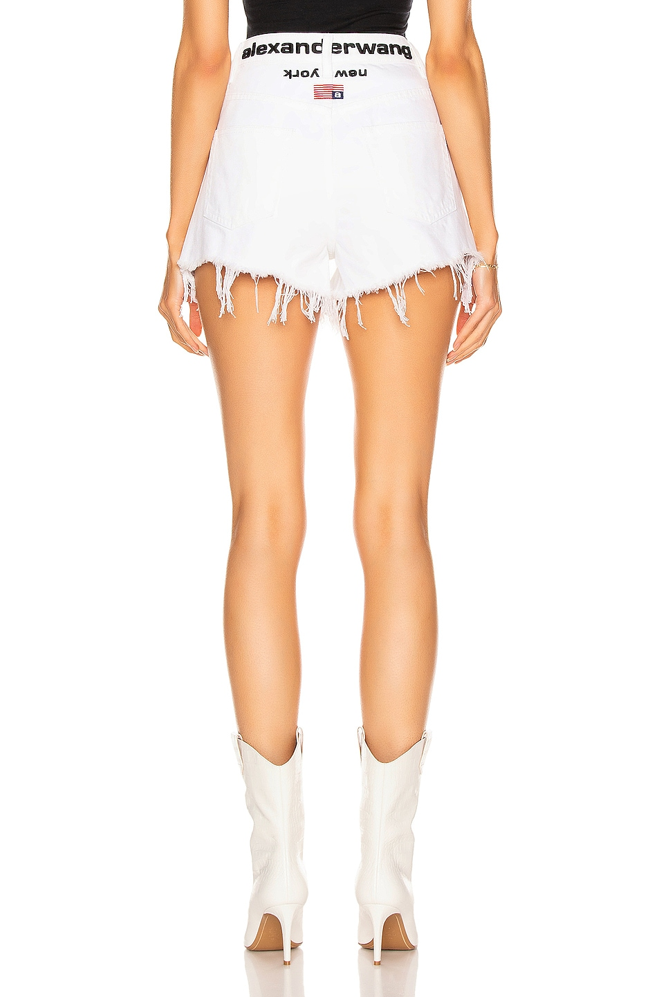Image 3 of Alexander Wang Runway Bite Flip Short in White