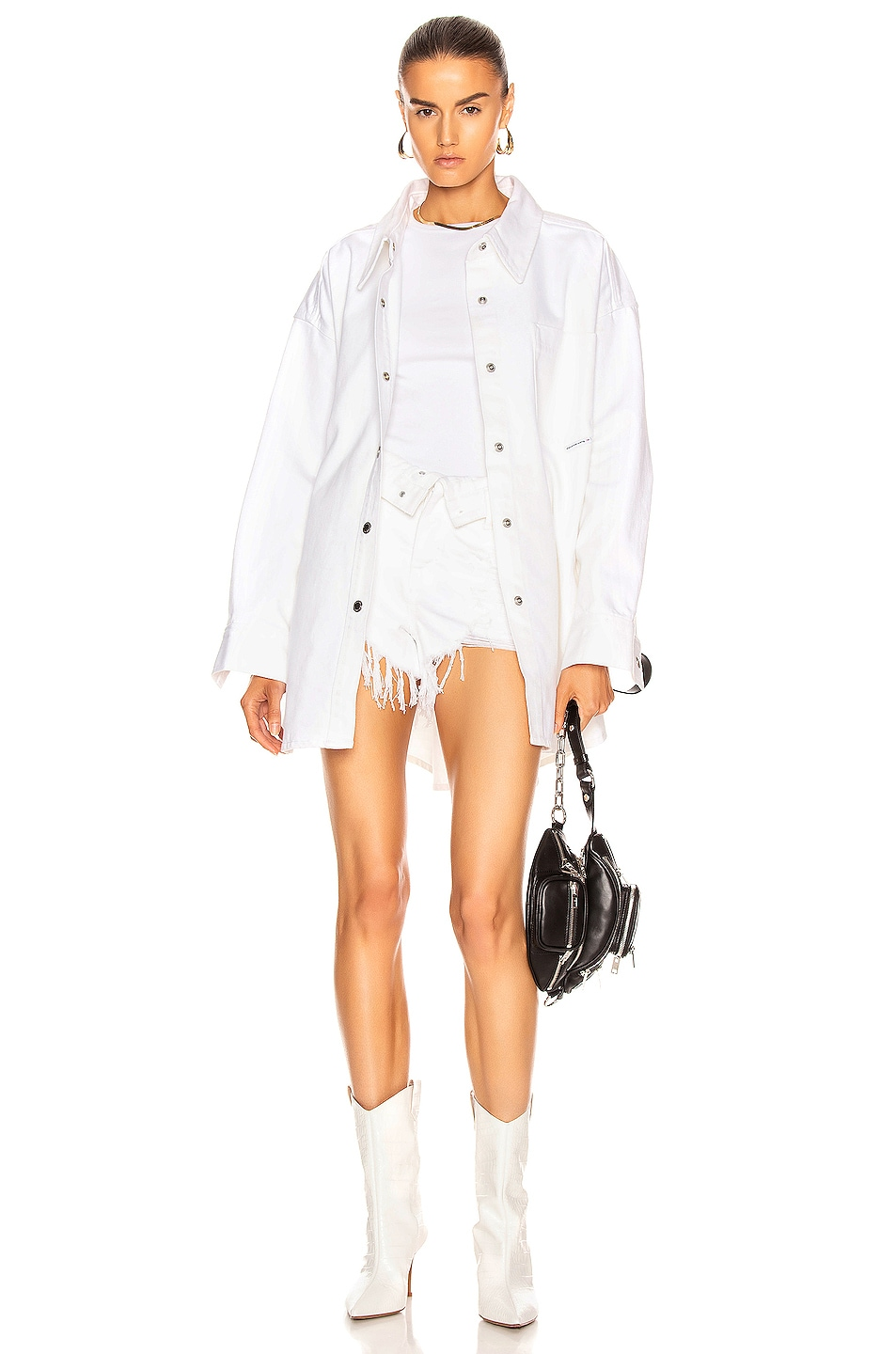 Image 4 of Alexander Wang Runway Bite Flip Short in White