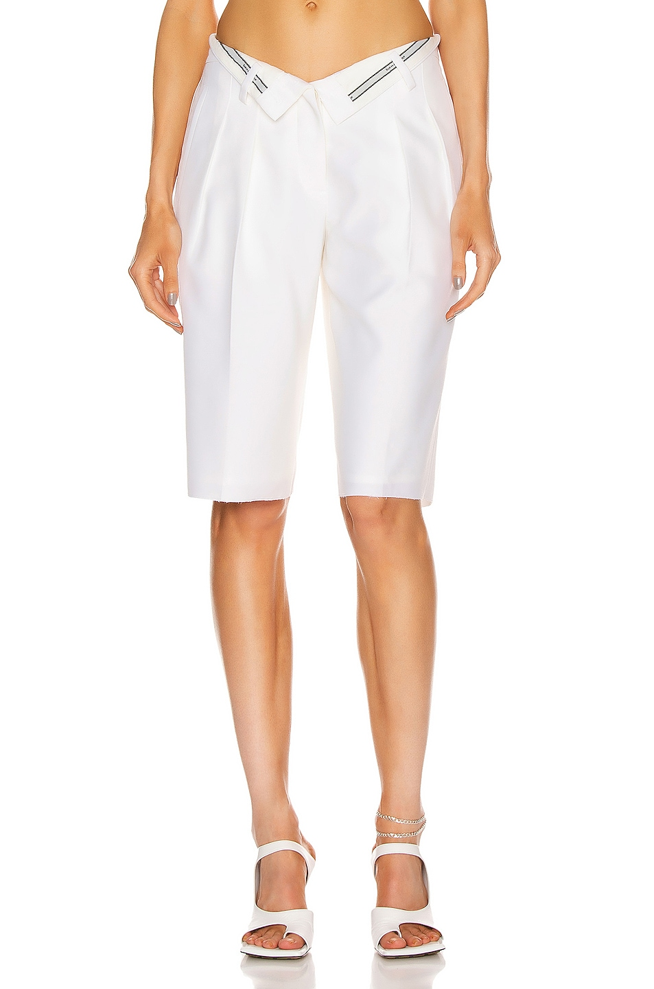 Image 1 of Alexander Wang Flipped Waistband Mens Short in White