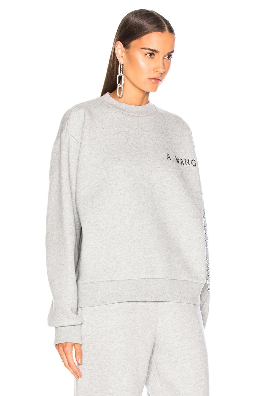 Image 2 of Alexander Wang Chrome Decal Sweatshirt in Grey