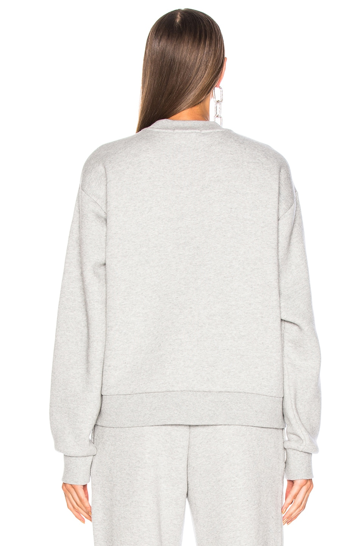 Image 4 of Alexander Wang Chrome Decal Sweatshirt in Grey