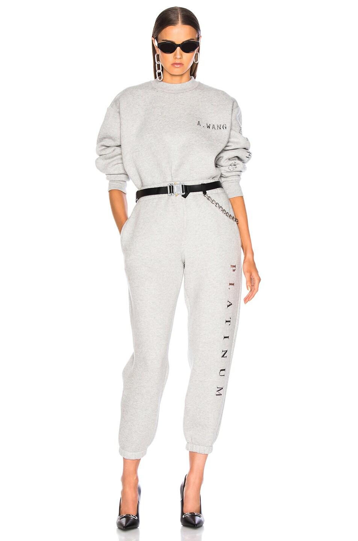 Image 5 of Alexander Wang Chrome Decal Sweatshirt in Grey