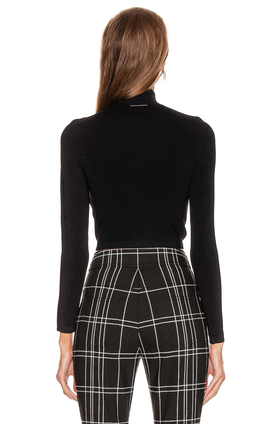 Image 3 of Alexander Wang Cropped Turtleneck Pullover Sweater in Black