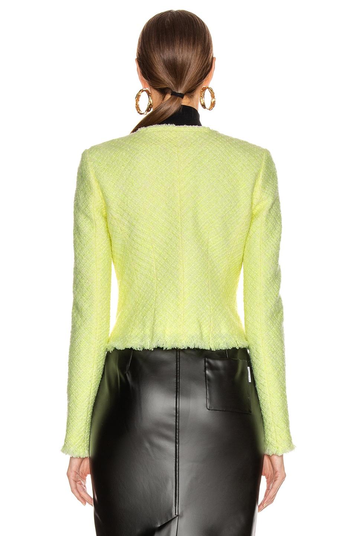 Image 4 of Alexander Wang Bias Tweed Cardigan Jacket in Highlighter