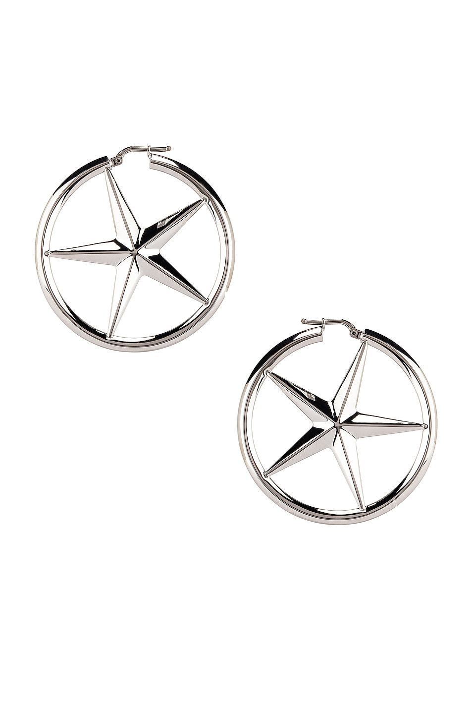 Image 1 of Alexander Wang AWG Hoop Earrings in Silver