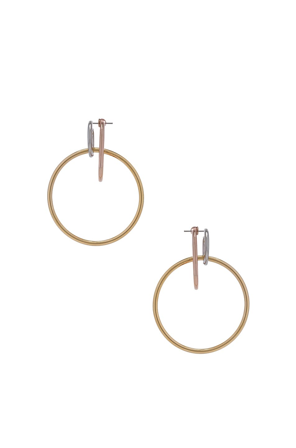Image 1 of Alexander Wang Triple Ring Earring in Multi
