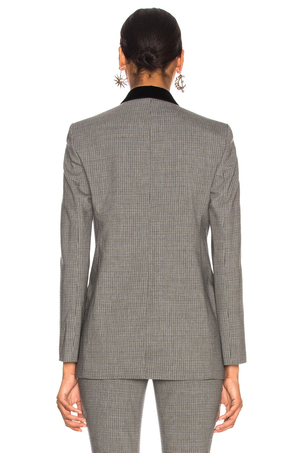 Image 5 of Alexander Wang Double Breasted Notch Blazer in Grey Multi