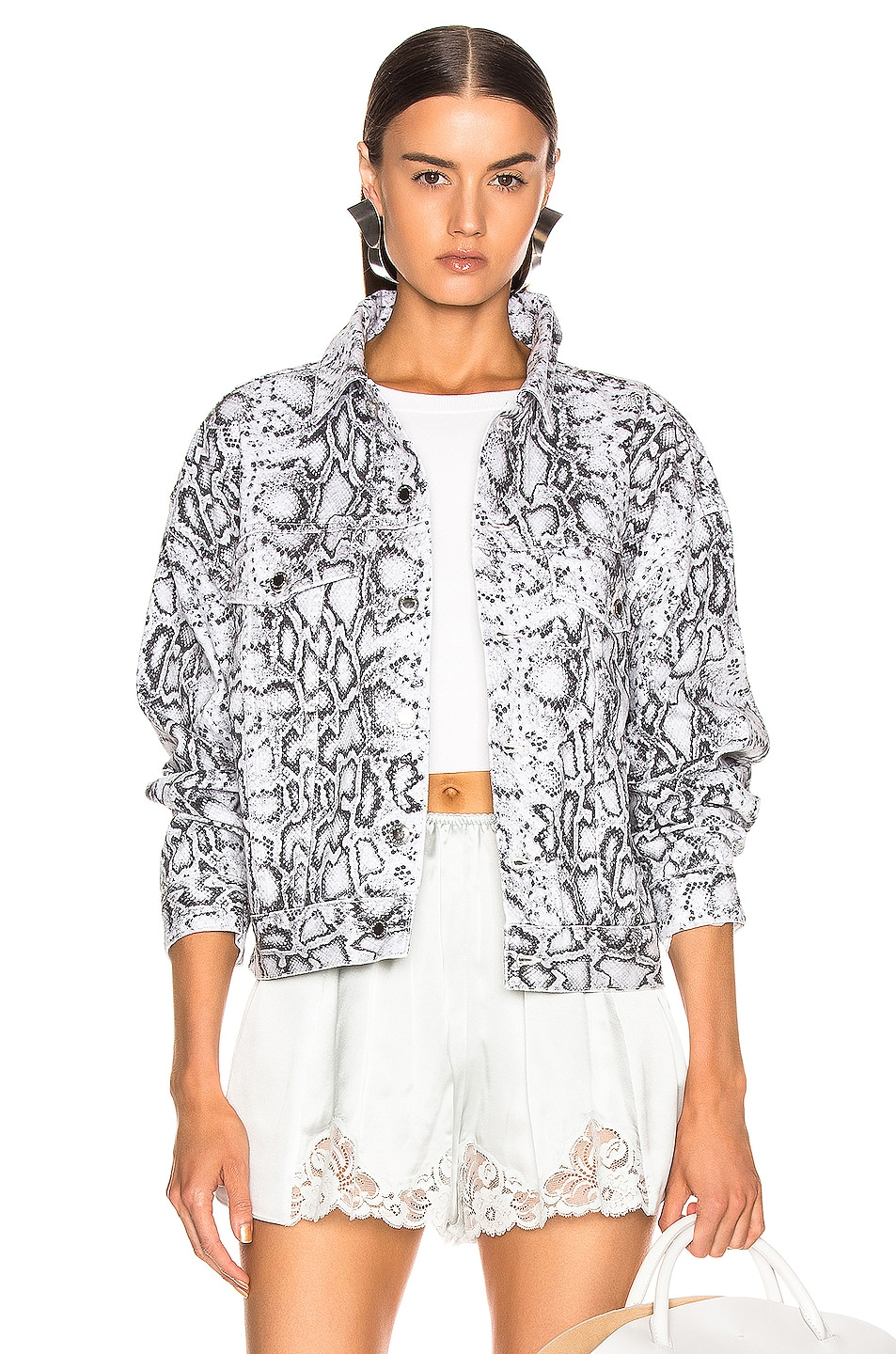 Image 1 of Alexander Wang Game Jacket in Faded Python
