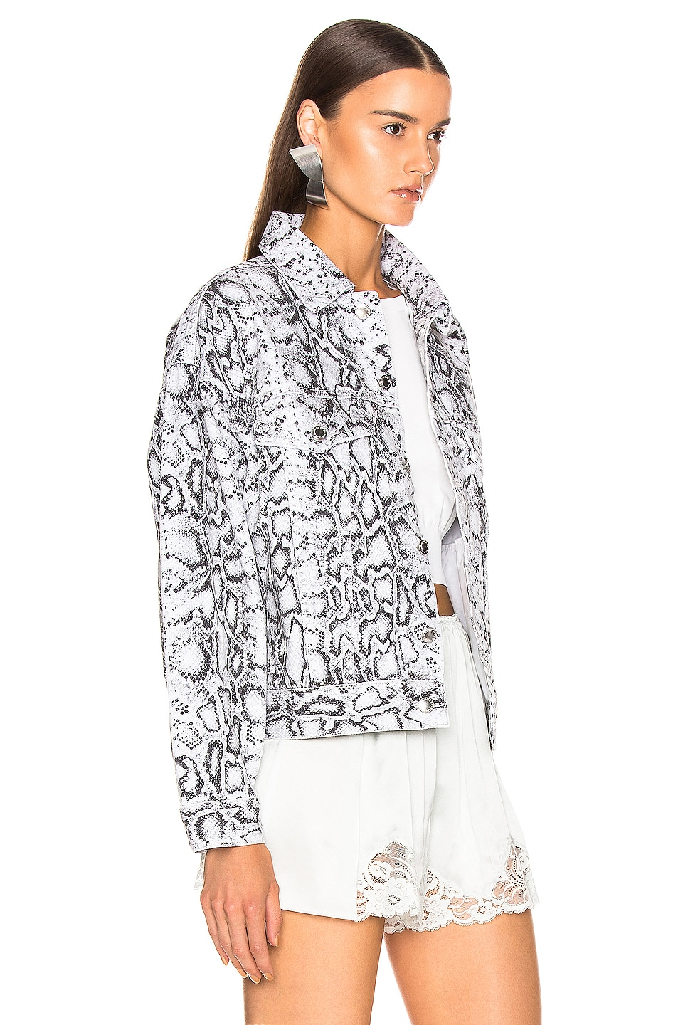 Image 2 of Alexander Wang Game Jacket in Faded Python