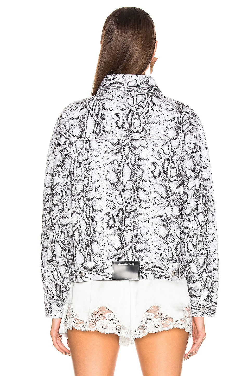 Image 3 of Alexander Wang Game Jacket in Faded Python