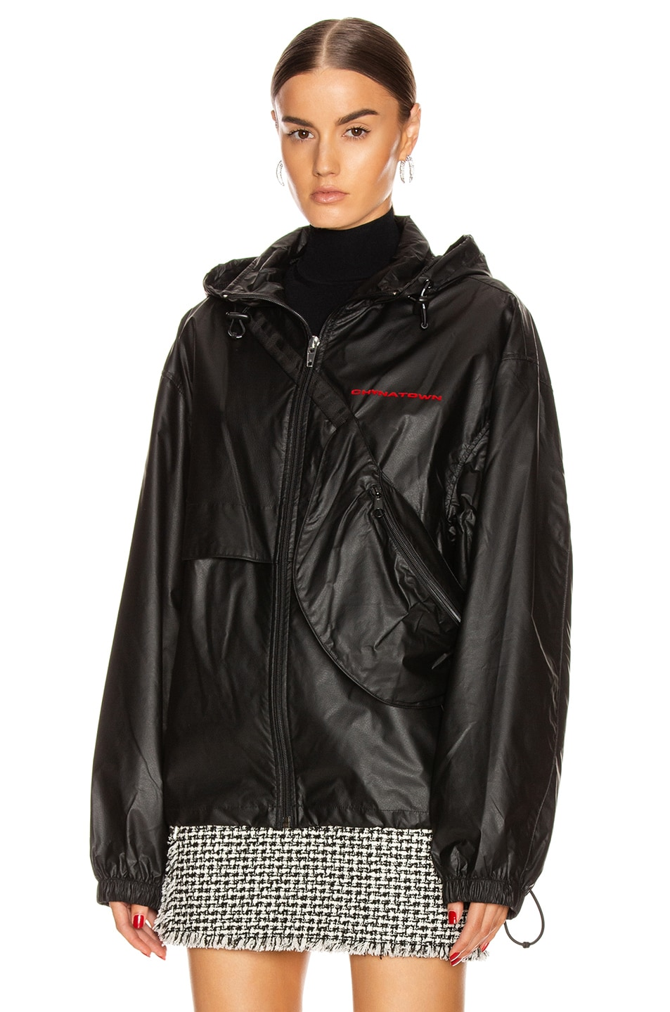 Image 3 of Alexander Wang Chynatown Track Jacket in Black