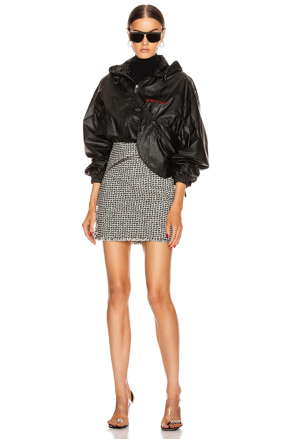 Image 7 of Alexander Wang Chynatown Track Jacket in Black