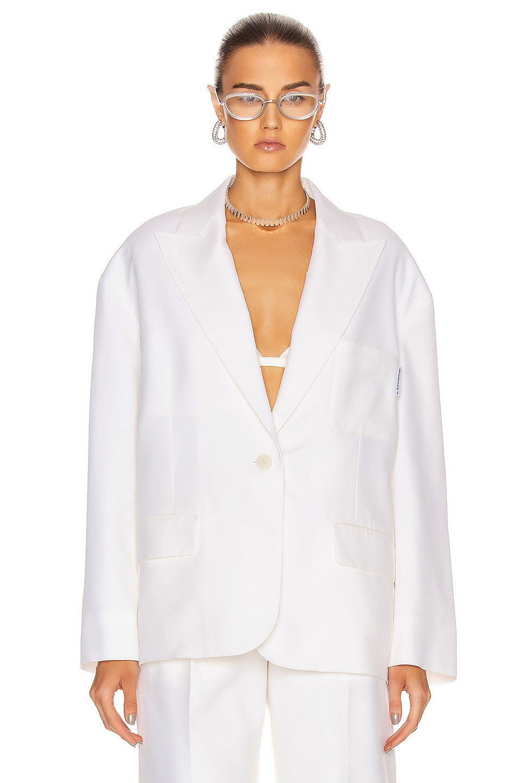 Image 2 of Alexander Wang Oversized Sweatshirt Blazer in White