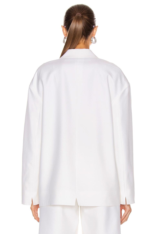 Image 4 of Alexander Wang Oversized Sweatshirt Blazer in White