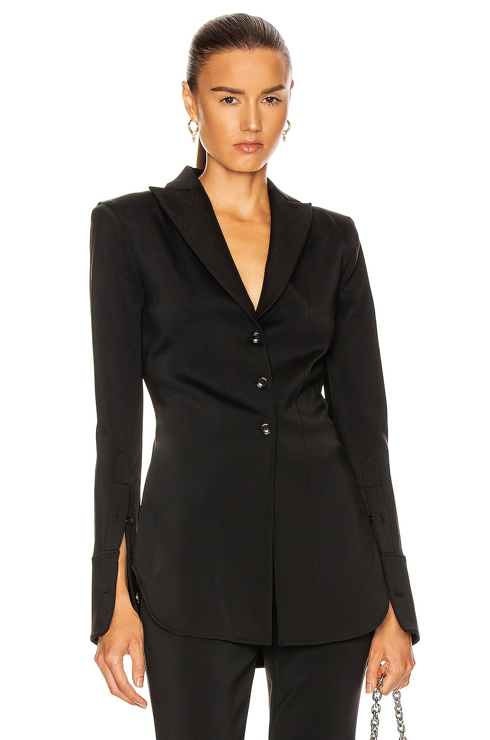 Image 1 of Alexander Wang Fitted Shirt Jacket in Black