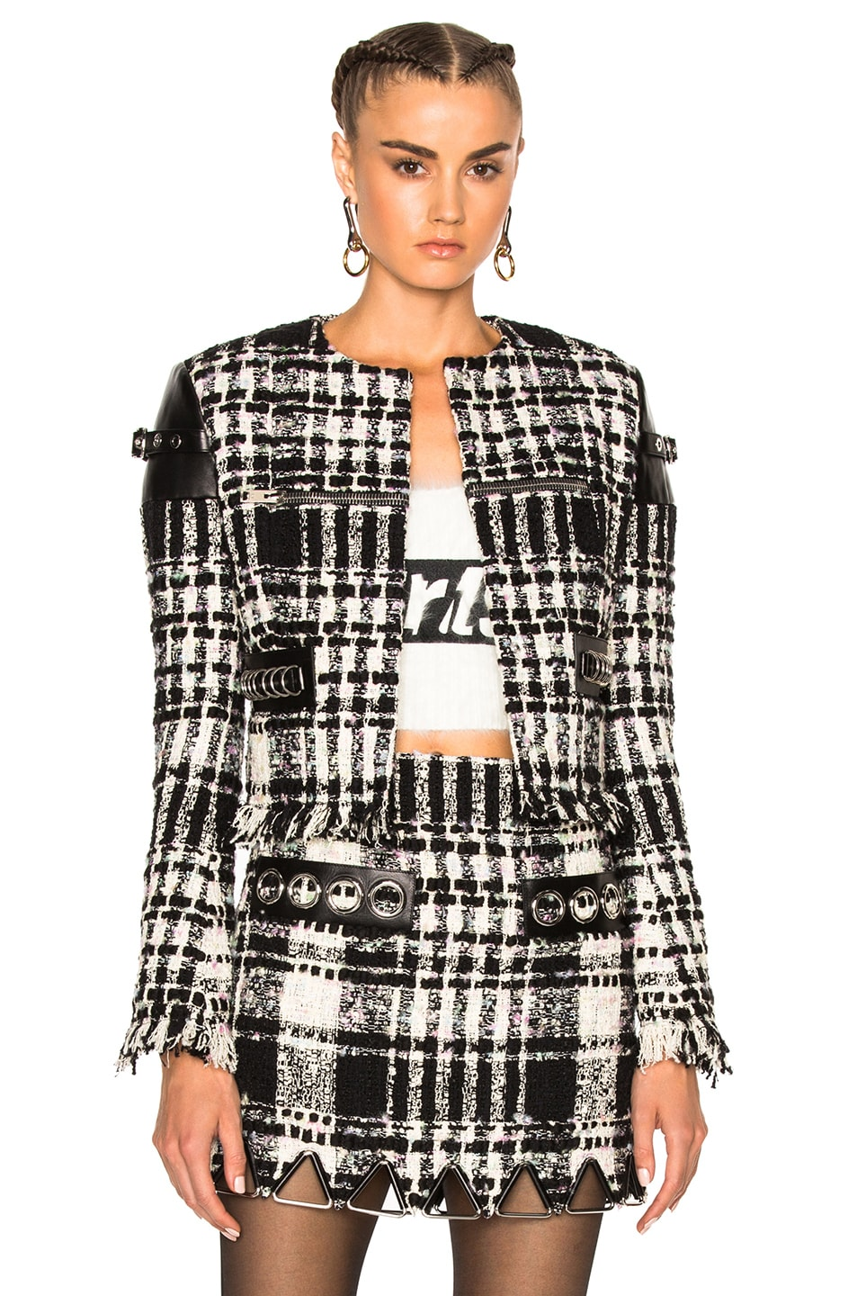 Image 1 of Alexander Wang Short Jacket in Black & White