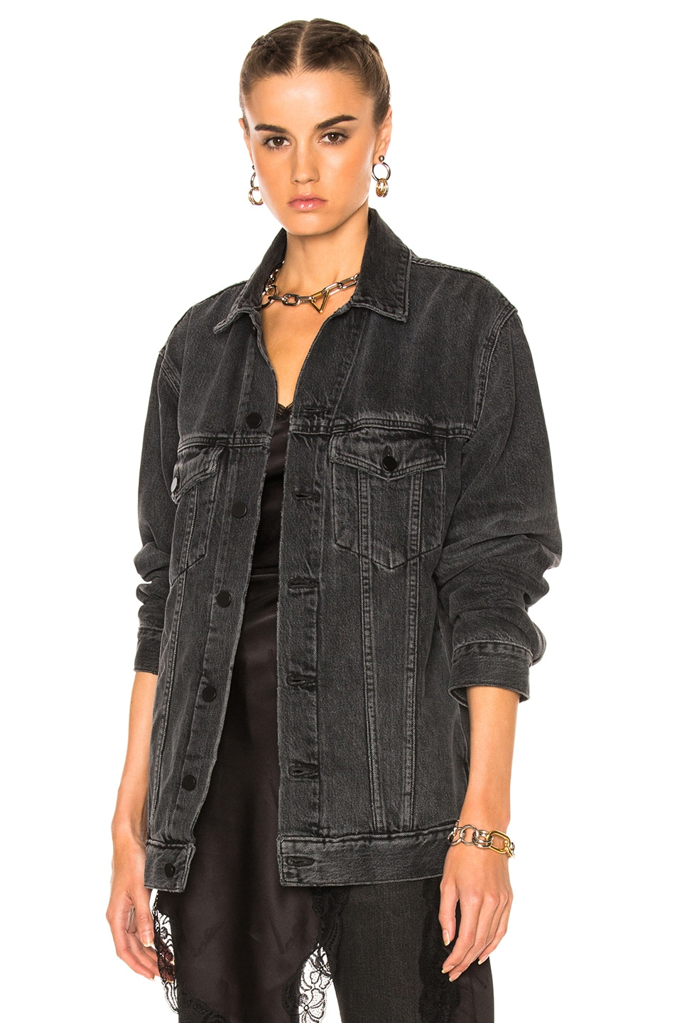 Image 1 of Alexander Wang Daze Jacket in Gray Aged