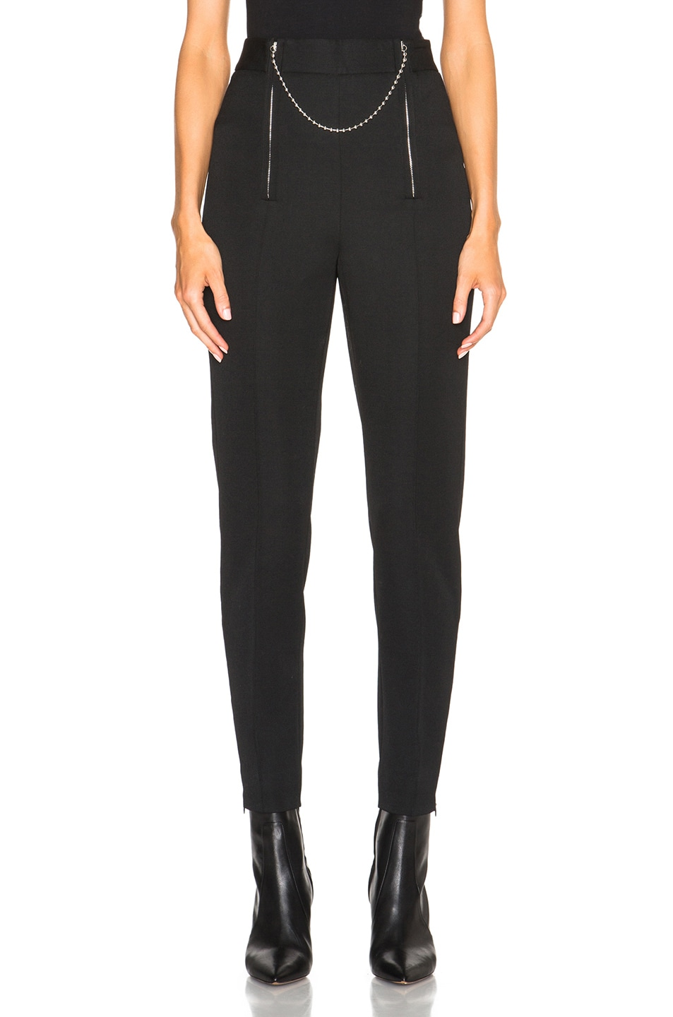 Image 1 of Alexander Wang Wool Tailoring Pants with Ball Chain Zipper in  Nocturnal