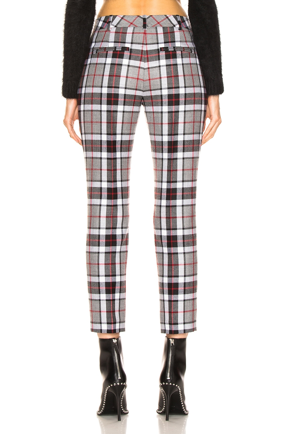 Image 3 of Alexander Wang High Waisted Cigarette Trousers in Grey
