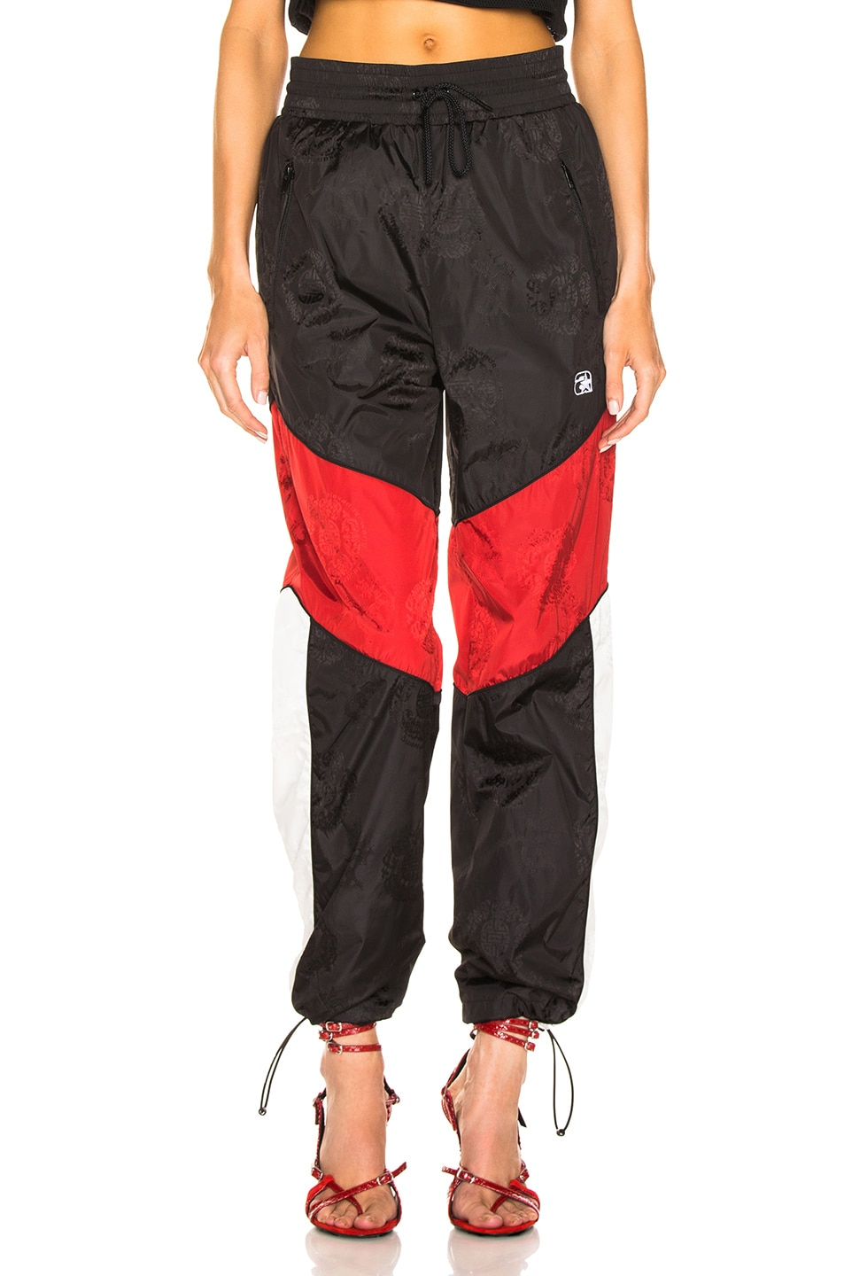 Image 1 of Alexander Wang Windbreaker Track Pant in Black, White & Red