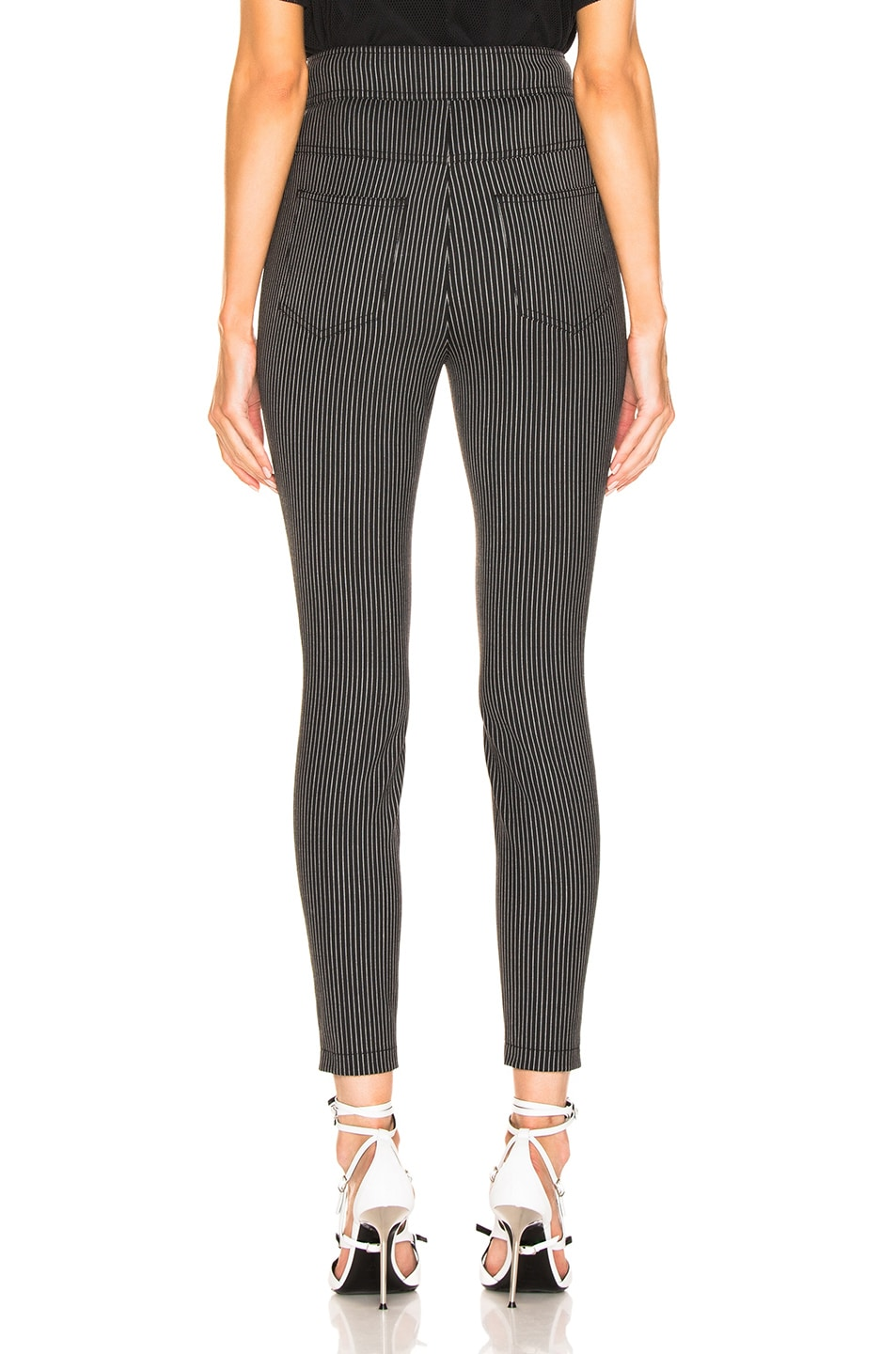 Image 3 of Alexander Wang High Waisted Snapdetail Legging in Black