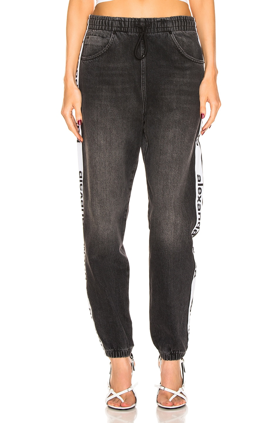 Image 2 of Alexander Wang Track Pant in Grey Aged