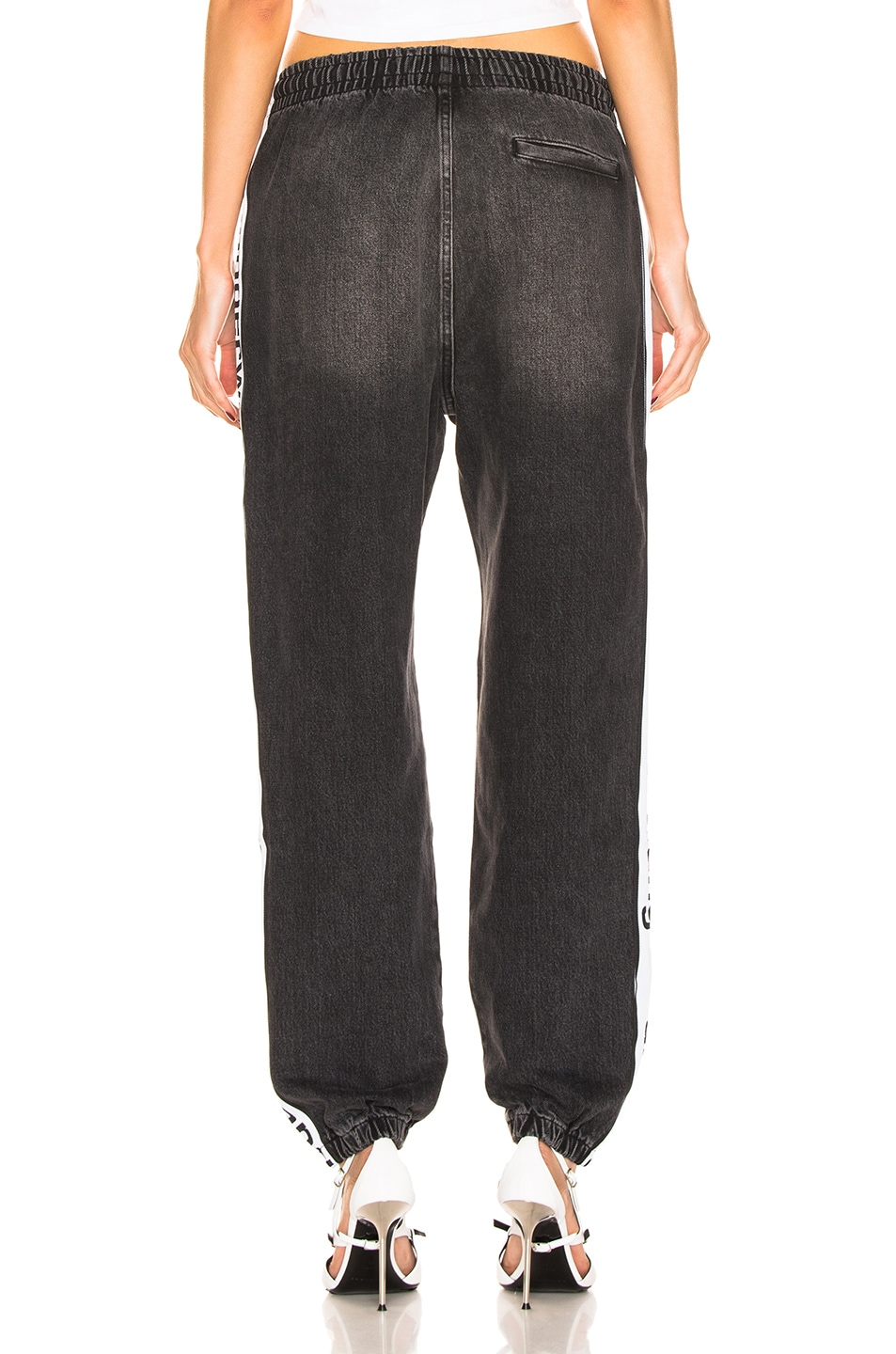 Image 4 of Alexander Wang Track Pant in Grey Aged