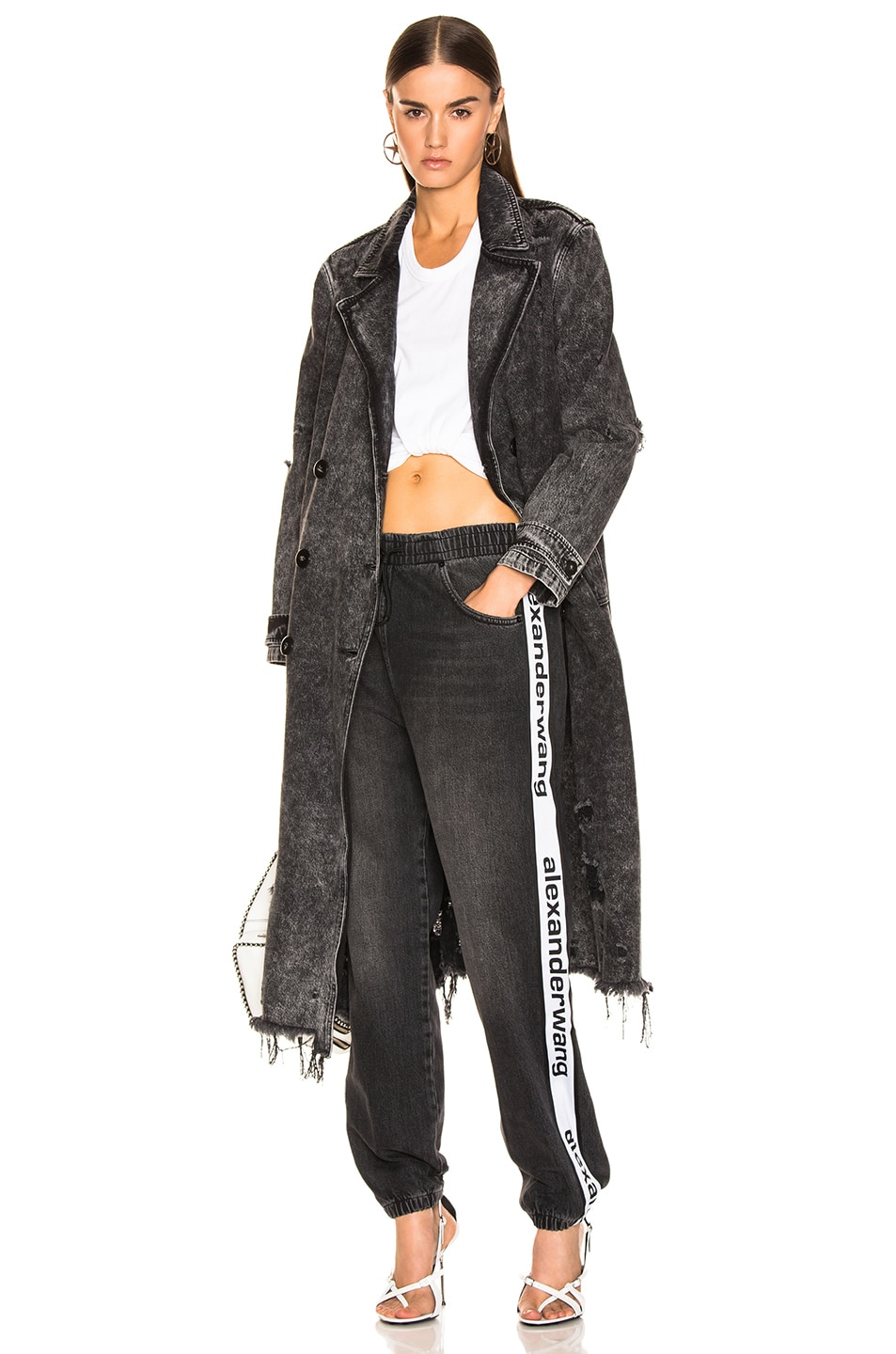 Image 5 of Alexander Wang Track Pant in Grey Aged
