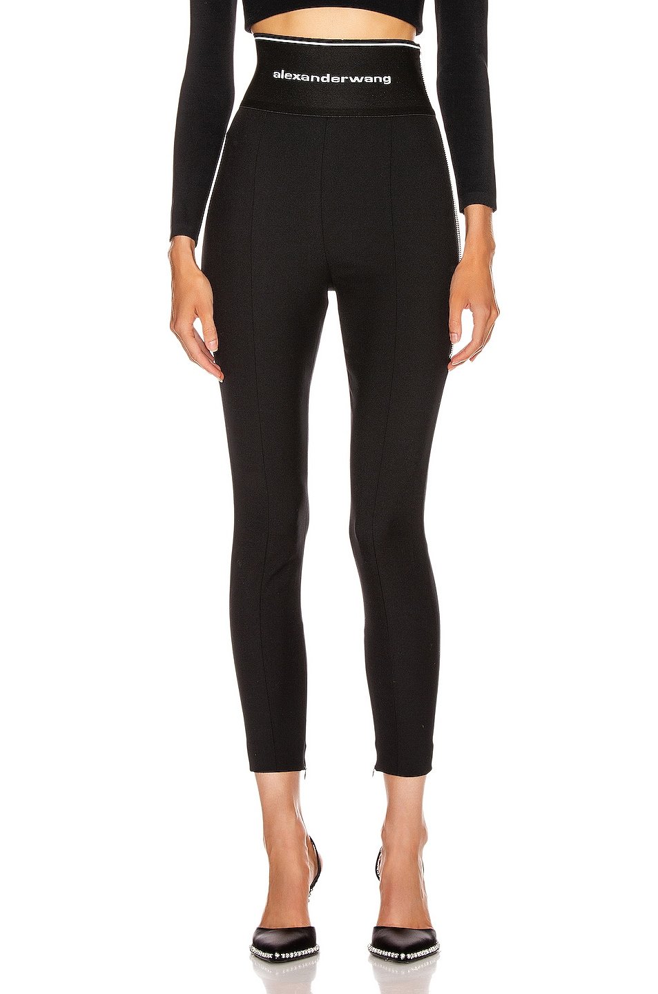 Image 1 of Alexander Wang Stretch Twill Legging in Black