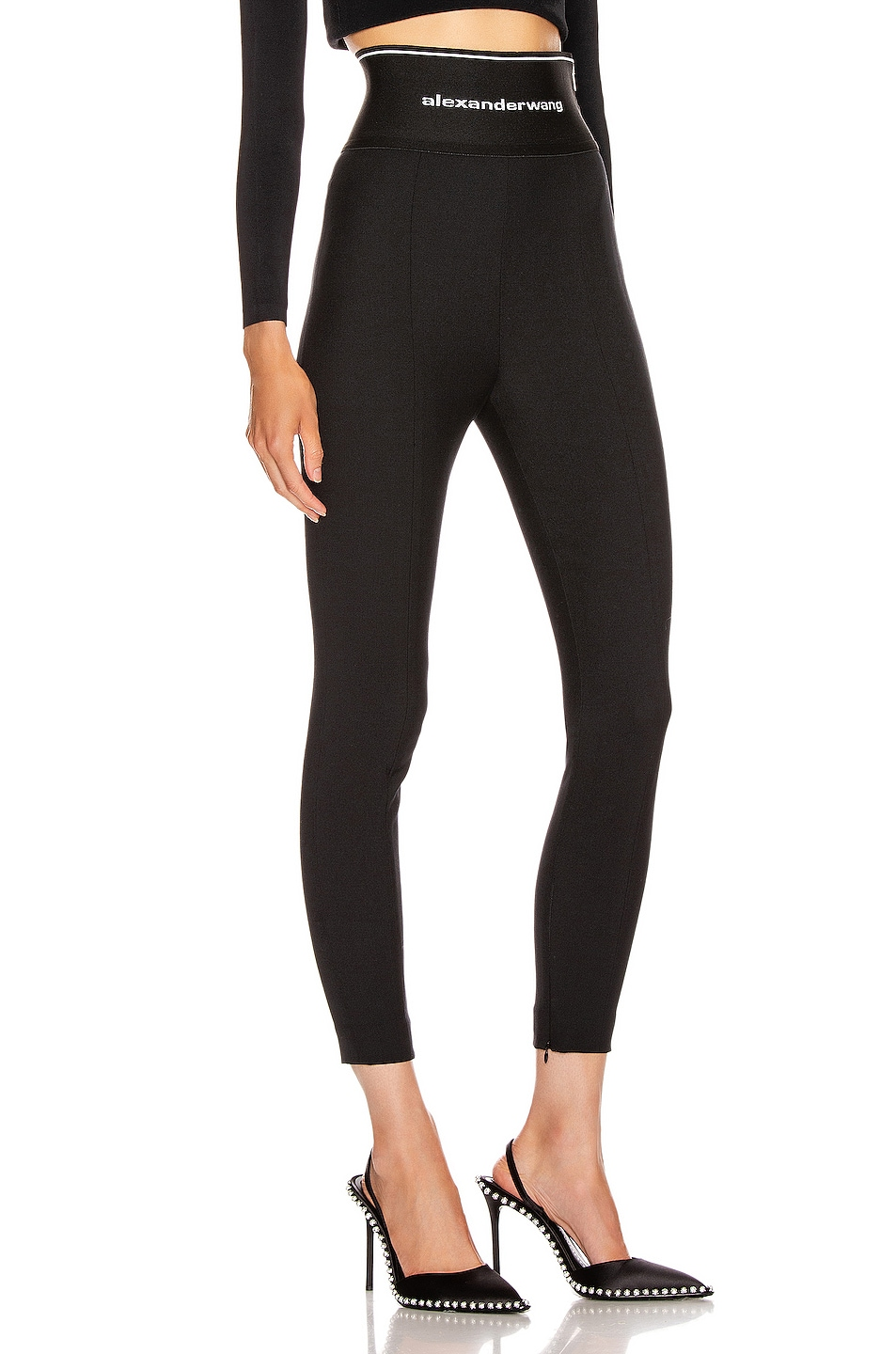 Image 2 of Alexander Wang Stretch Twill Legging in Black