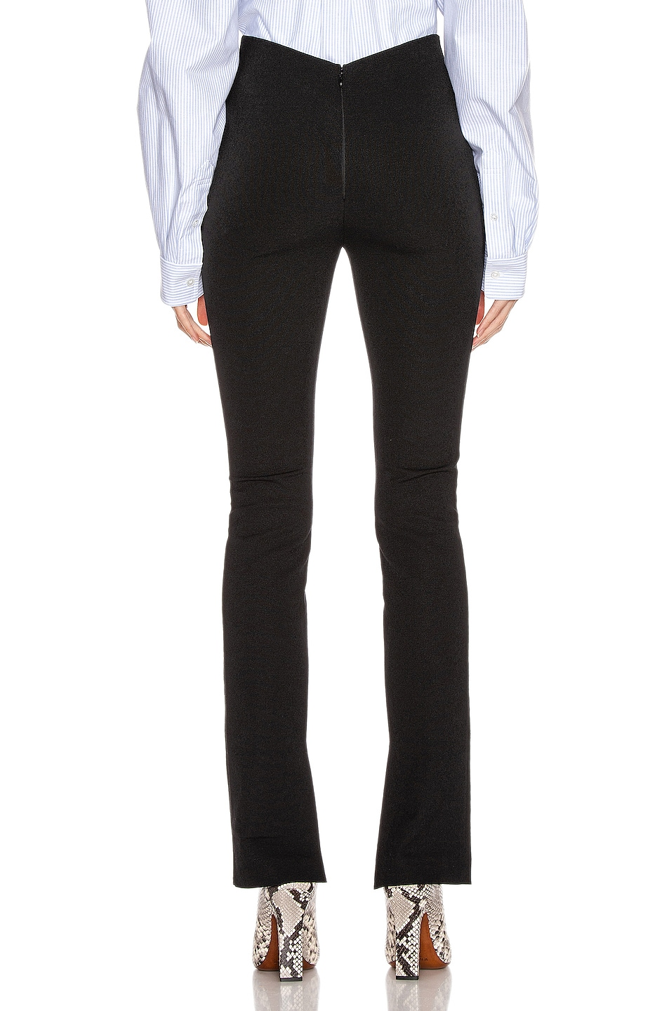 Image 4 of Alexander Wang Elastic Crepe Pant in Black